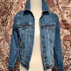 Women's Old Navy Blue Denim Crop Waist Jacket-XS